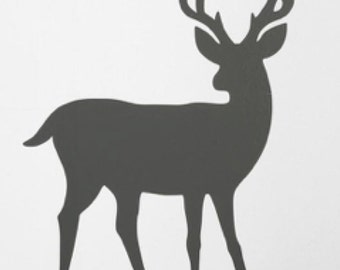 Pack of 3 Full Deer Stencils Made from 4 Ply Mat Board, 11x14, 8x10 and 5x7