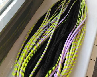 Sets of dedreads, dreads like braids, twists, fantasy dreads, mix dreads, twist dreads, ethnic dreads