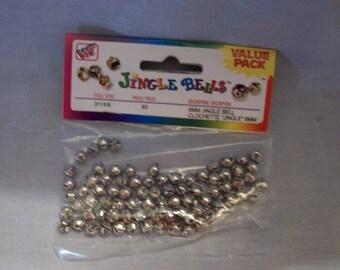 6mm Jingle Bells for Crafting, Westrim Jingle Bells, Silver Bells, 6mm Bells, Crafts, Embellishments, Scrapbooking, Sewing, Christmas Bells