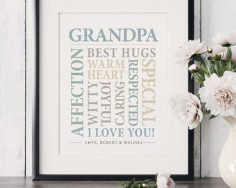 Grandfather Gift,Gift for Grandfather,Personalized Gift for Grandfather,Christmas Gift for Grandfather,Birthday Gift for Grandfather