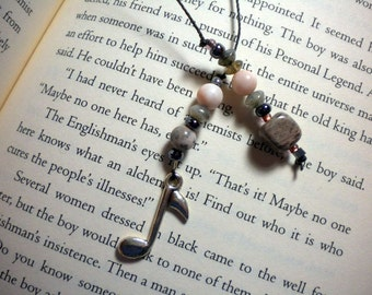 Beaded book thong / bookmark for the music lover - pay it forward, PIF
