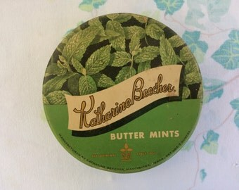 Vintage Butter Mints Tin