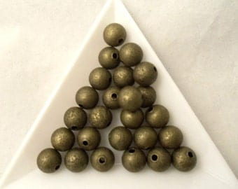8 mm Stardust Beads (1845AB) - Antique Bronze