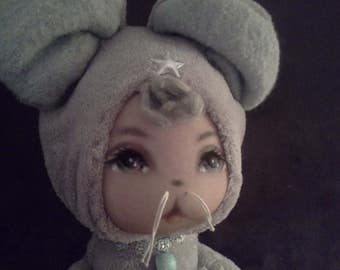"""Small animal crumpled """"doudou mouse"""""""