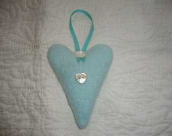 Lavender Heart made from recycled Cashmere