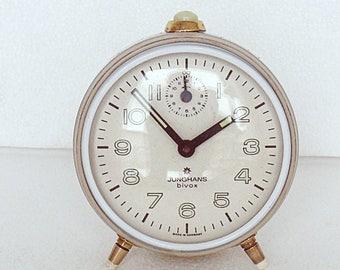 Collectors piece  Very  pretty JUNGHANS  table  ALARM clock  BIVOX