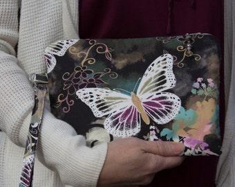 Butterfly Bag - Smartphone Wallet  - Wristlet Wallet - Smartphone Wristlet - Credit Card Holder - Butterfly Purse - Phone Wallet