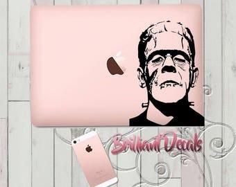Frankenstein,Macbook Decal,Frankenstein monster Sticker, MacBook Pro Decal, Decal, Monster decal, Frankenstein monster, frankenstein sticker