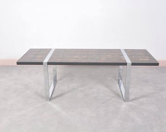 Coffee Table with Ceramic Tile Top by Julien Belarti