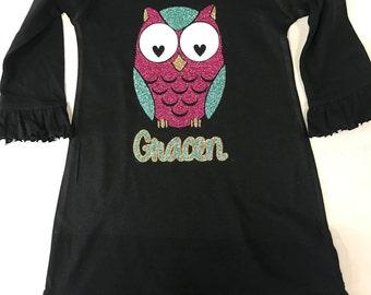 Glitter Owl Dress
