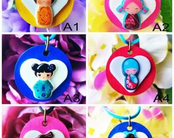 Fiesta japonesa muñeca collares Paquete del bolso (min 3 items en paquetes)