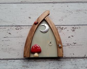 Outside/Indoor garden Fairy Door Elf Door Clotted Cream Range Beautiful Handmade