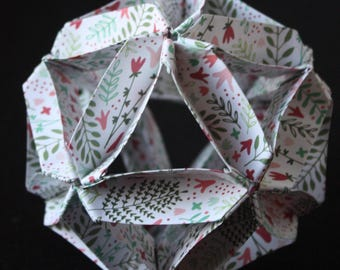 ORIGAMI#09 - Origami paper ball - Floral pattern