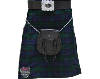 Onstyle Scottish Highland Active Men Utility Sports Black Watch Tartan Kilts