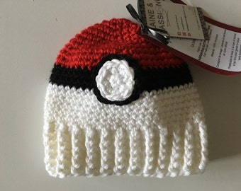 Tuque Pokeball (2-5 years, 6-10 years old / teen, adult)