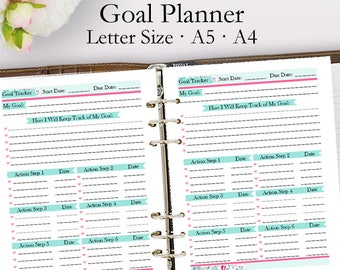Goal Planner Template, Blank Goal Planning Printable Planner PDF, Goals Planning Template Printables Plan, Letter A5 A4, Instant Download