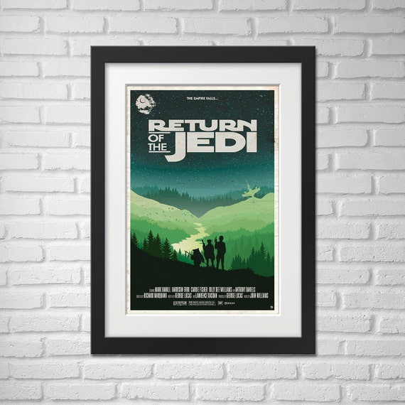 Star Wars Movie Poster Illustration / Star Wars Movie Poster / Movie Poster / Star Wars / Return of the Jedi