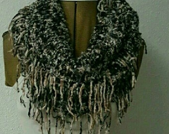 This Beautiful hand knitted bamboo Infiniti  Scarf is super soft and very cute.