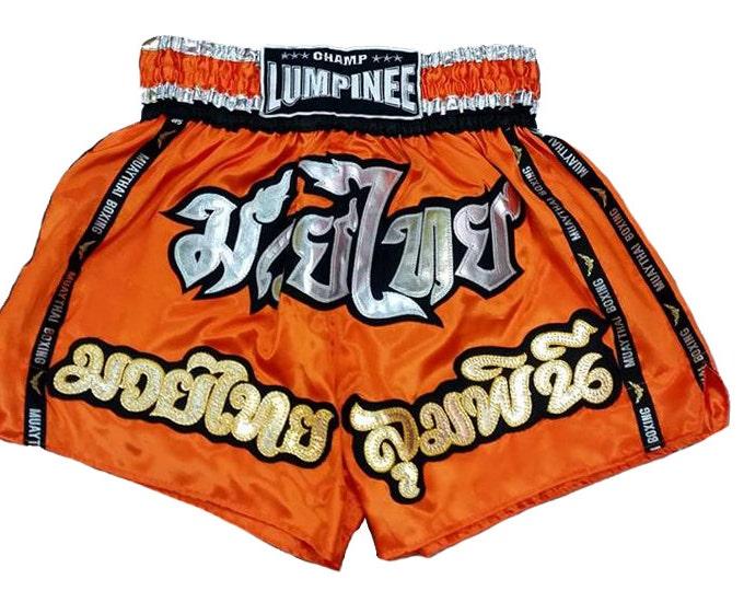 Champ Lumpinee Muay Thai Boxing Shorts Martial Arts - Orange