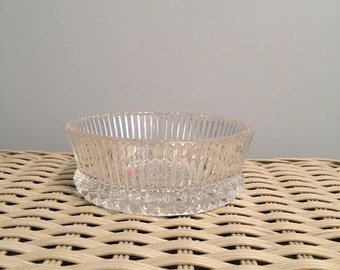 American Fostoria Heritage Clear Leaded Crystal Candy Dish