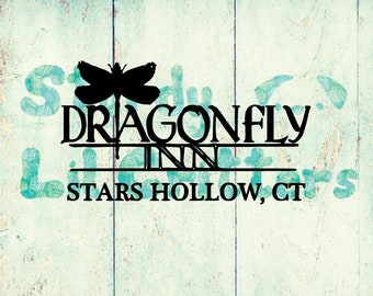 Gilmore Girls - Dragon Fly Inn - Vinyl Decal - Magnetic Decal - Stars Hallow CT - Lorelai - Rory - Bumper Sticker - Magnet Option