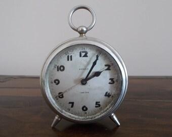Antique Kienzle Tam Tam alarm clock, 1930/40s, Art deco desk clock