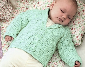 Baby Jacket, Hat And Blanket, Crochet Pattern. PDF Instant Download.