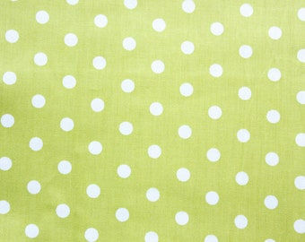 Polka dot Fabric, Cotton Fabric, Dusty Green, Medium Dots, Basic Essential, Quilting Dressmaking Sewing Patchwork Supplies, Wide, Half Metre