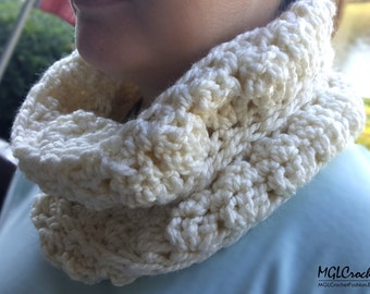 PATTERN Cozy Marshmallow Cowl | Easy Crochet Pattern | Beginner Tutorial | PDF Pattern