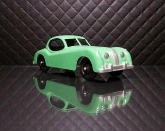 Vintage Tootsietoy Green Jaguar XK-140