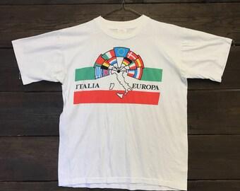 Vintage 1970's Italia Italy Europe Tee