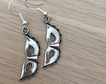 Fifty shades earrings, fifty shades stocking filler, 50 shades of grey gift, masquerade earrings, 50 shades valentines, 50 shades of grey,