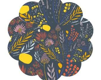 Morning walk print fabric. Wispy day break nimbus print cotton fabric. Modern floral cotton fabric. Apparel/quilting fabric. DIY sewing