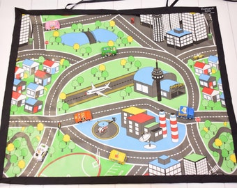 car mat road mat game kids play mat travel roll up road mat