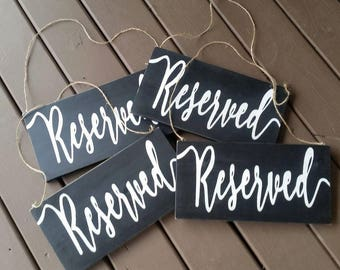 Reserved Wedding Sign, Wedding Decor, Wedding Ceremony Decor, Rustic Wedding, Wedding, Wedding Church Decor, Wedding Reception Decor