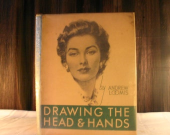 1963 Drawing the Head and Hands by Andrew Loomis - Free Shipping