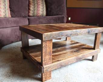 Reclaimed Wood Coffee Table Reclaimed Lumber Rustic Low Coffee Table Wood Table Handcrafted Coffee Table