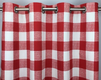 red buffalo check curtains free shipping red gingham drapes red