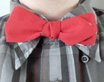 Reversible Red and Crafts Bow Tie