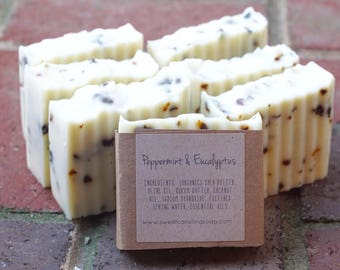 Peppermint & Eucalyptus Handmade Soap - Organic