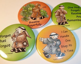 Little Francis Pins - All Different - Lot of Four (4)