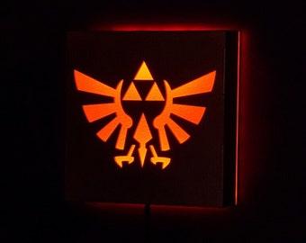 Legend of Zelda Triforce Hyrule LED Illuminated Wall Sign