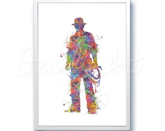 Indiana Jones Movie Film Poster [1] Harrison Ford Watercolor Art - Wall Decor - Watercolor Painting - Watercolor Art