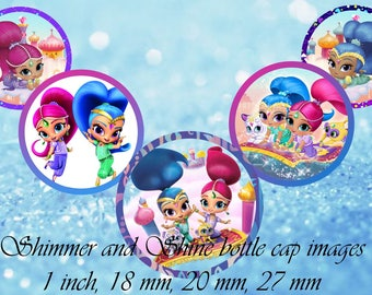 Shimmer and Shine 1 inch Bottle Cap Images Shimmer Shine 1 INCH Round Images Shimmer&Shine bottle cap images Shimmer Shine BCI 1 inch round