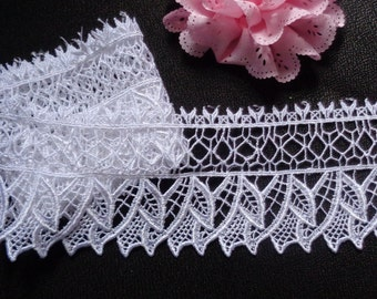 delicate Venise Lace, 2+3/4 inch wide selling by the yard