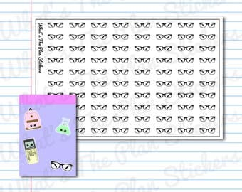 Reading Glasses School College Planner Stickers