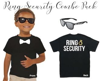 Wedding Ring Bearer, Ring Security Sunglasses & T-Shirt Combo Pack