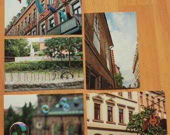 """Dresden Neustadt I"", 5 piece set of postcards"