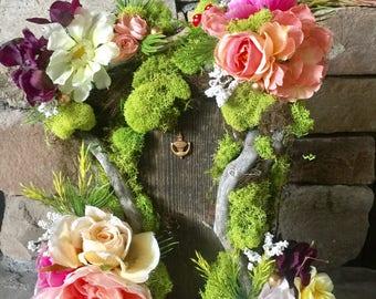 Garden party Fairy Door, fairy party, wedding centerpiece, home decor, enchanted forest,