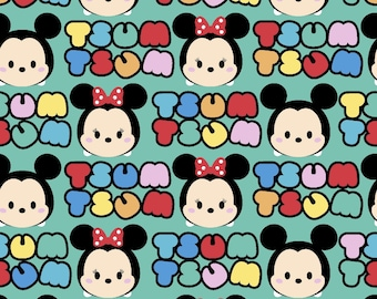 Stretchy Disney Tsum Tsum Cotton Knit fabric